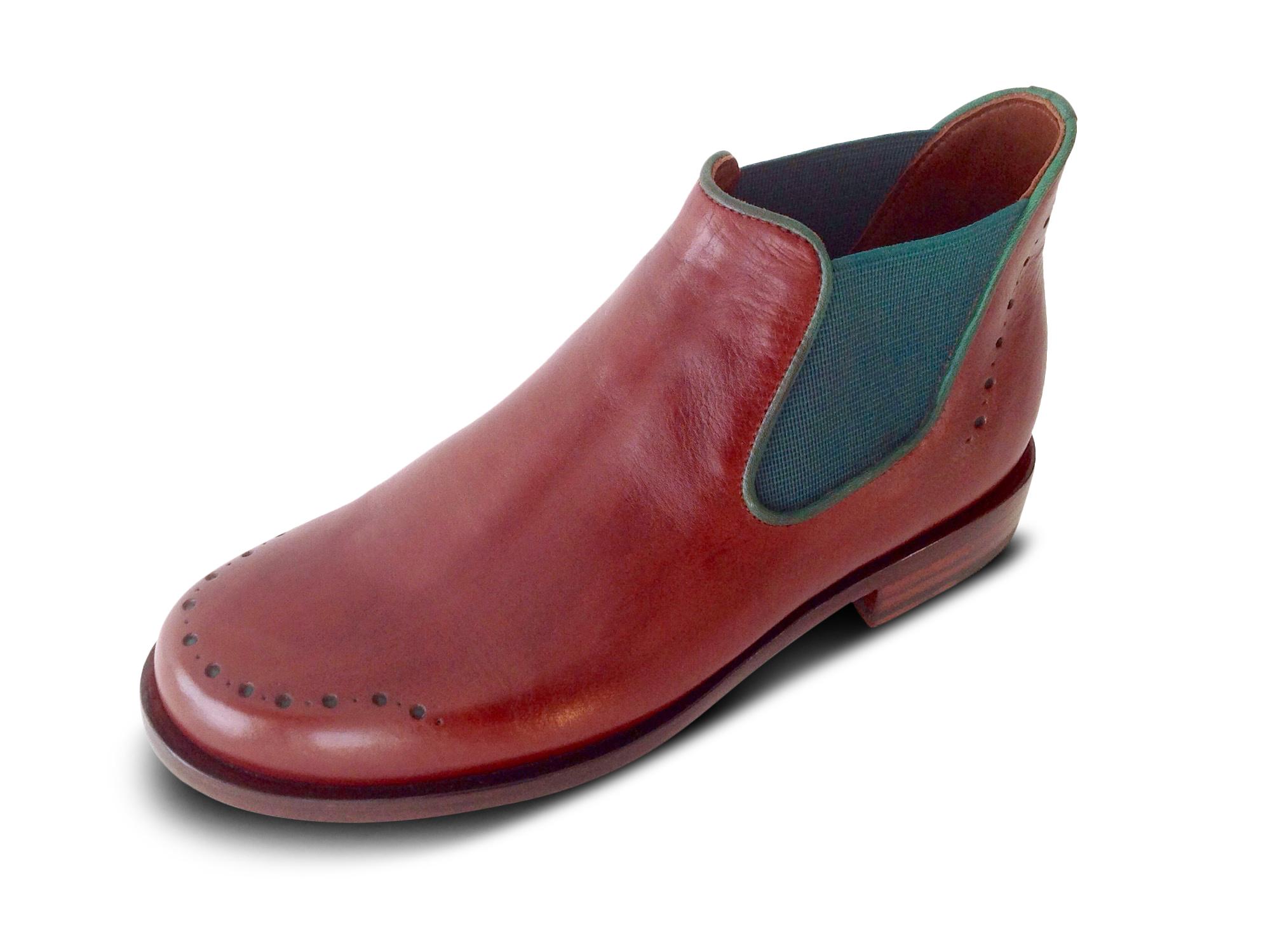 zweifarbiger Chelsea Boots