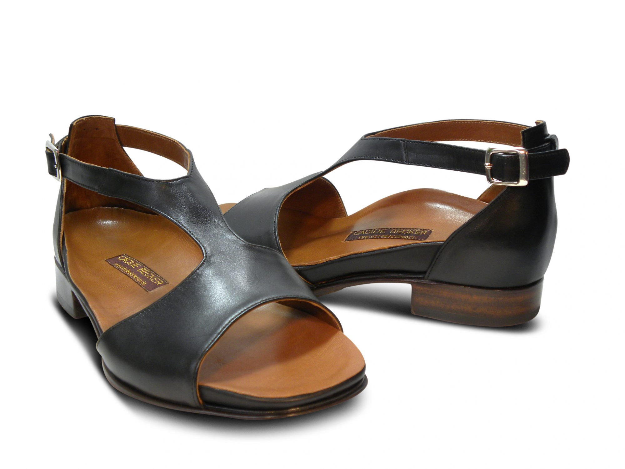 Sandalen mit Fußbett, Kalbsleder