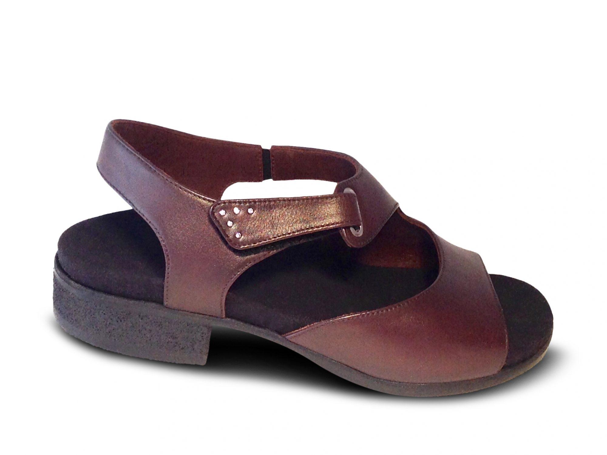 Sandalen mit Fußbett und Klettverschluß